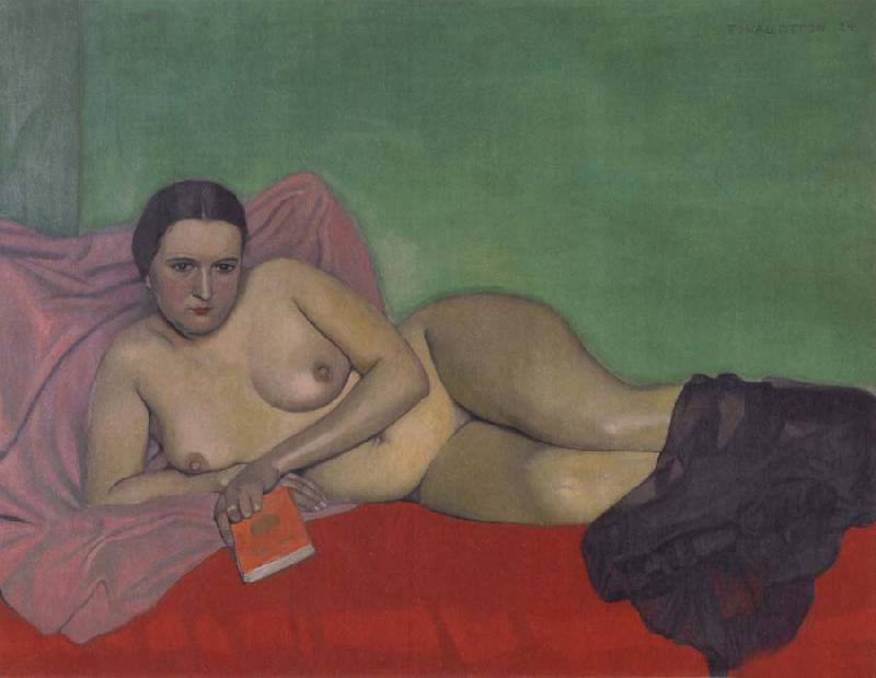 Felix Vallotton Nude holding a book